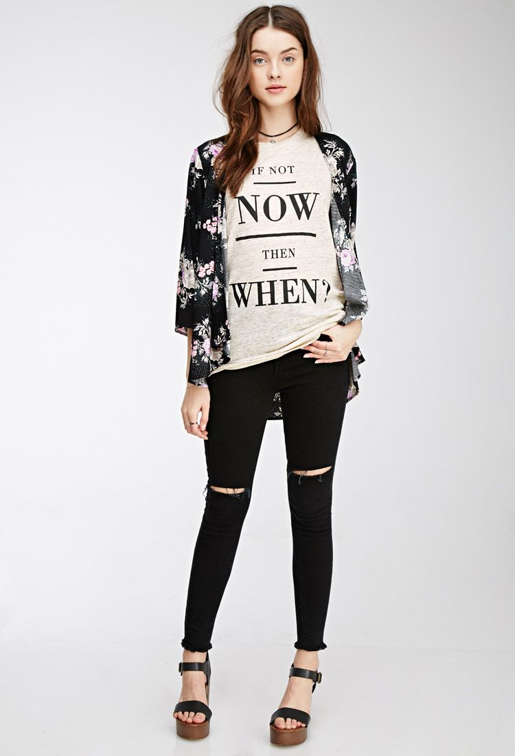 If Not Now Graphic Muscle Tee | Forever 21 Canada