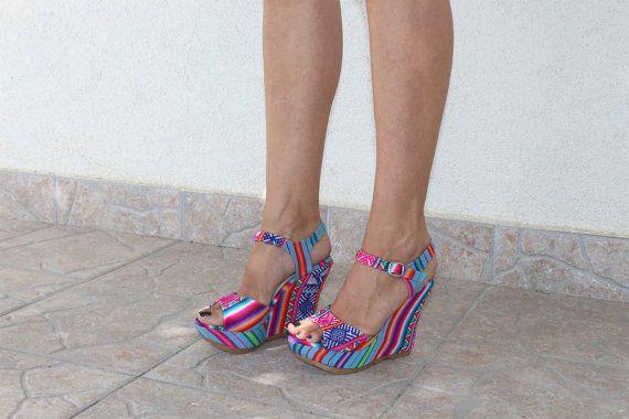 ffa0644acd7a Peep Toe High Heels Wedge Sandals