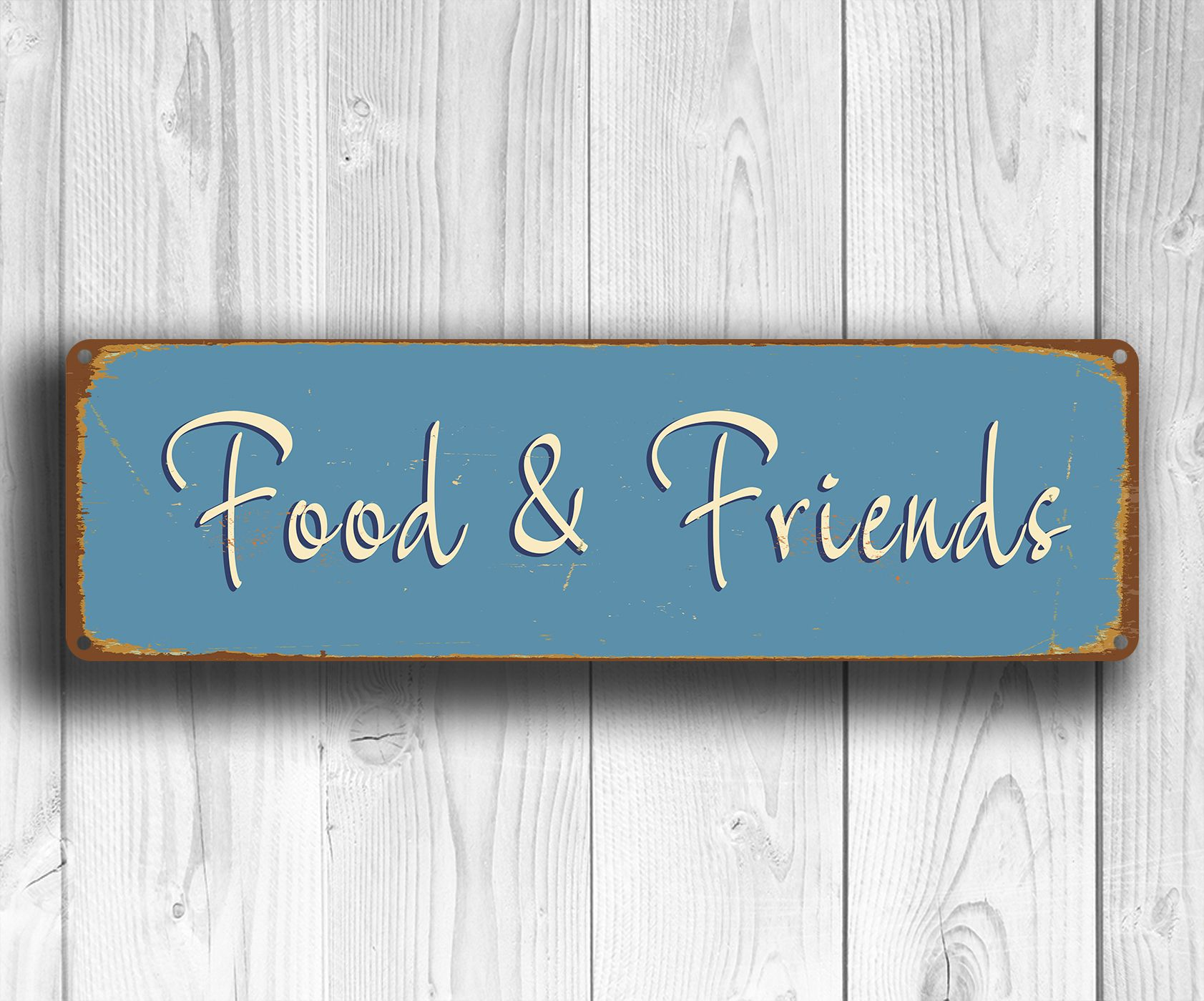 Food and Friends Sign | Vintage Food and Drink Signs | Pinterest ...