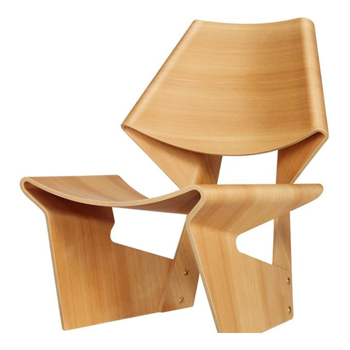 Molded Plywood Chair from the GJ Collection by Lange Production. Originally designed in 1963 by Danish furniture designer Grete Jalk.
