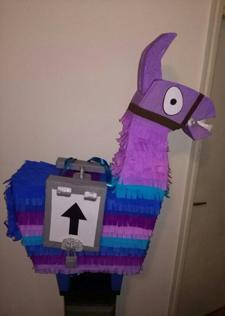 Llama Fortnite Pinata Birthday Party Decorations