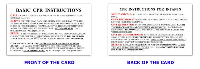 Cprinstructioncard Scouts Pinterest Cpr Instructions