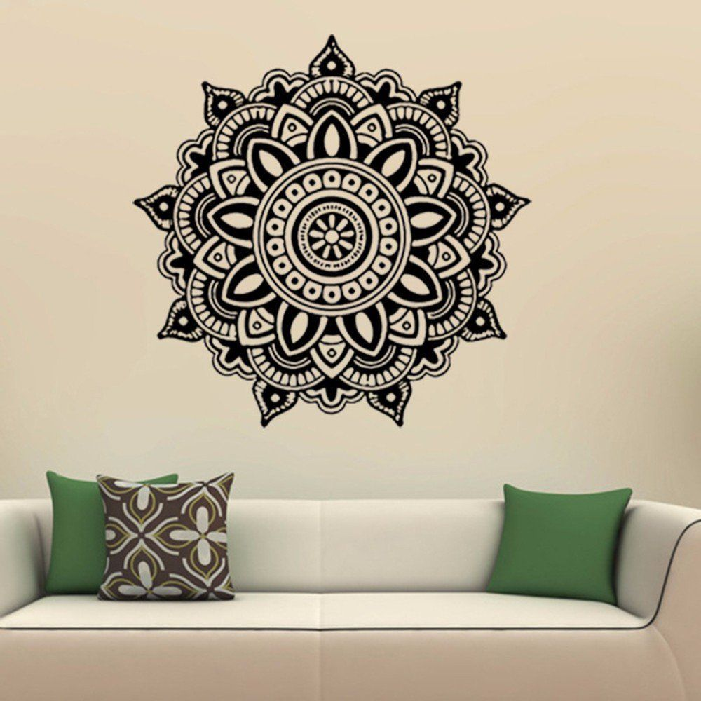 Mandala Flower Indian Bedroom Wall Decal Art Stickers Mural Home Vinyl Family Wall Stickers Home Deco Decal Wall Art Wall Decor Decals Wall Stickers Home Decor