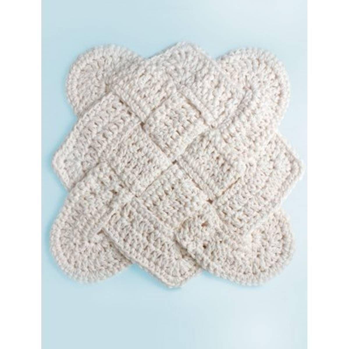FREE PATTERN Lily Sugar \'n Cream Sailor\'s Knot Crochet Dish Cloth ...