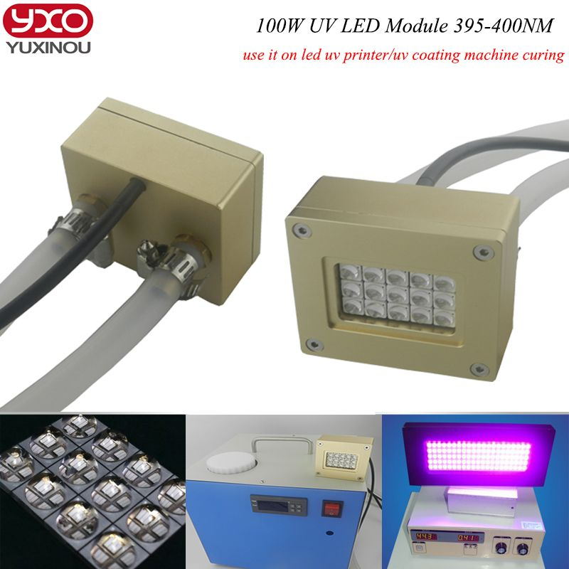 100w Uv Led Module Uv Gel Curing Lamps Pcb Exposure Machine Ultraviolet Disinfection Equipment Printing Screen Printi Uv Led Screen Printing Machine Led Module