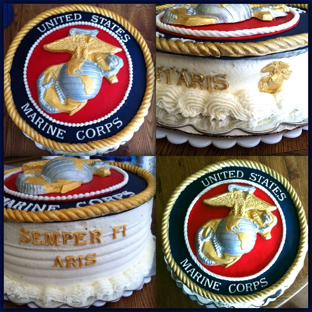 US Marine cakes two cakes for one Marine (With images