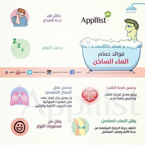 فوائد حمام الماء الساخن Health Medicinal Plants Good To Know