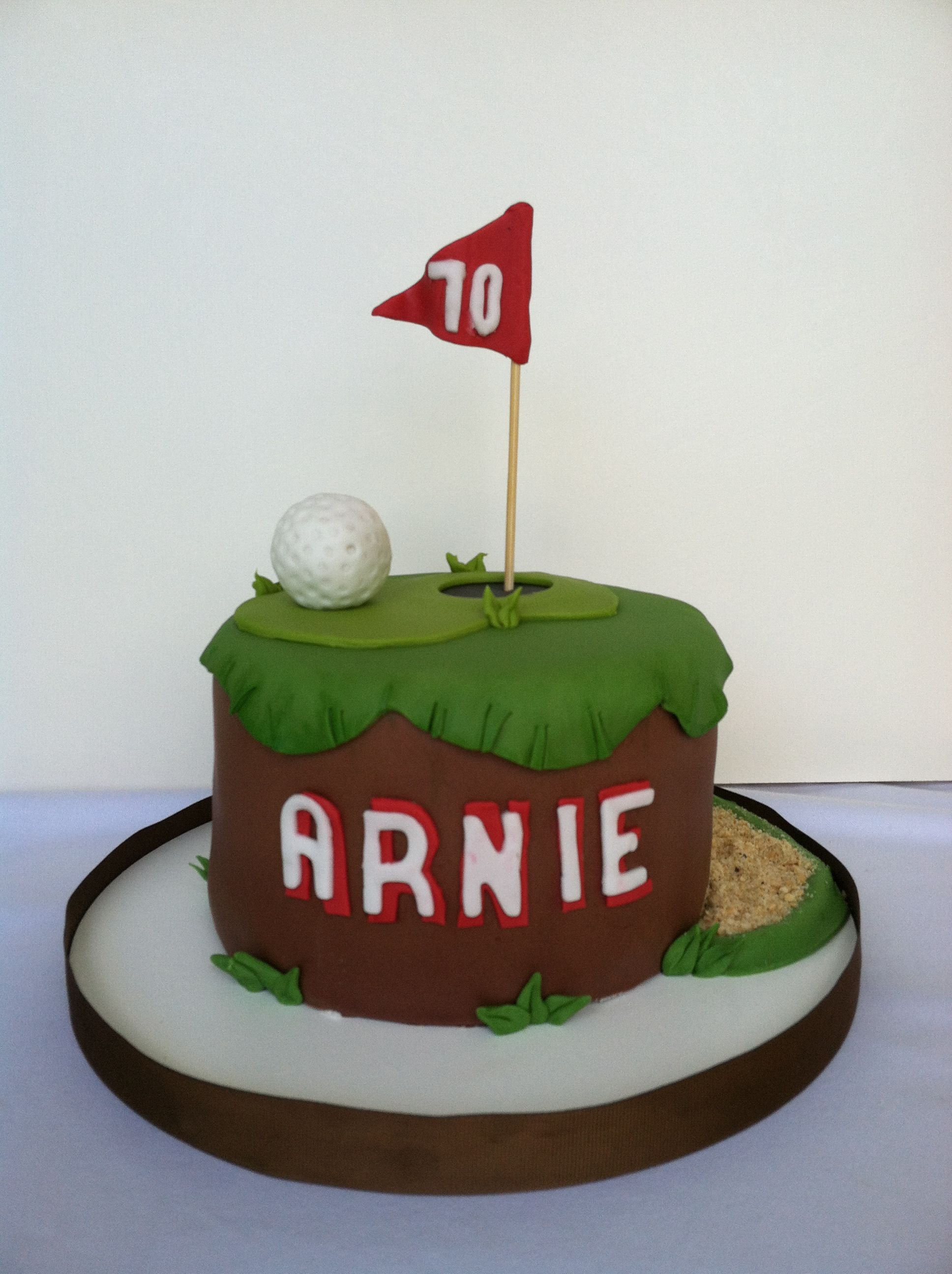 Golf Themed 70th Birthday Cake Dad Double Chocolate