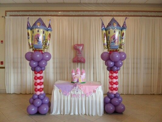 Princess Columns Balloon Artistry Princesas Princesas Disney