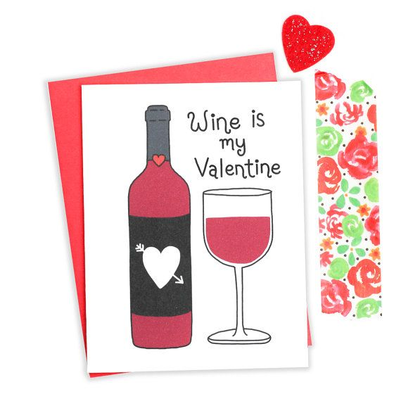 Funny Wine Card Sarcastic Valentine Funny Valentine by TurtlesSoup  Valentines Cards  anti valentines singles awareness  funny wine card  bff valentine  bestie valentine  wine lover  drunk valentine  funny valentine card wine valentine  single ladies  cheeky valentine  sarcastic valentine  sarcasm