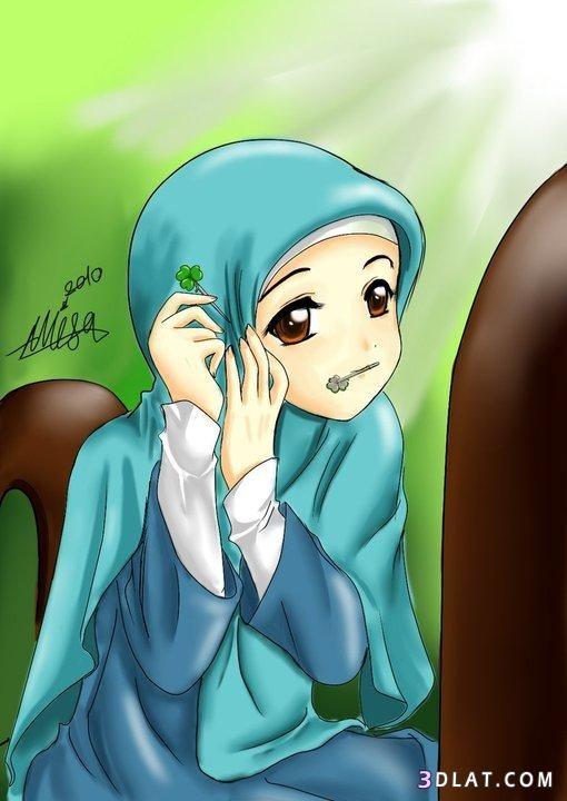 بدورى على صورة بنت محجبة لبروفايلك 510 X 720 50 Anime Muslimah Islamic Cartoon Anime Muslim