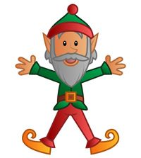 This Page Contains Free Elf Clipart Printable Coloring Pages For Kids An Template And Ornaments Decorations The Christmas Tree