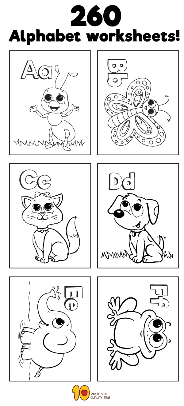 260 Alphabet worksheets | Education | Preschool worksheets ...