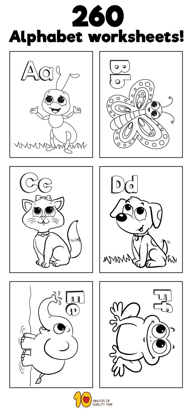 260 Alphabet Worksheets Alphabet Activities Preschool Alphabet Preschool Alphabet Worksheets Preschool [ 1320 x 600 Pixel ]