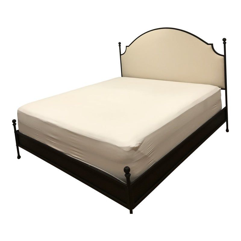 Pottery Barn Aberdeen King Metal Bed Frame And Upholstered