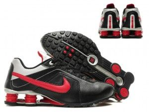 Nike Shox R4 Männer Schuhe schwarz rot silber  http://www.nikeschuheonlinekaufen.