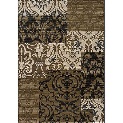 Beige Panel Rug 5'3 x 7'6 Area Carpet Persian Oriental Antique Floor Mat Home