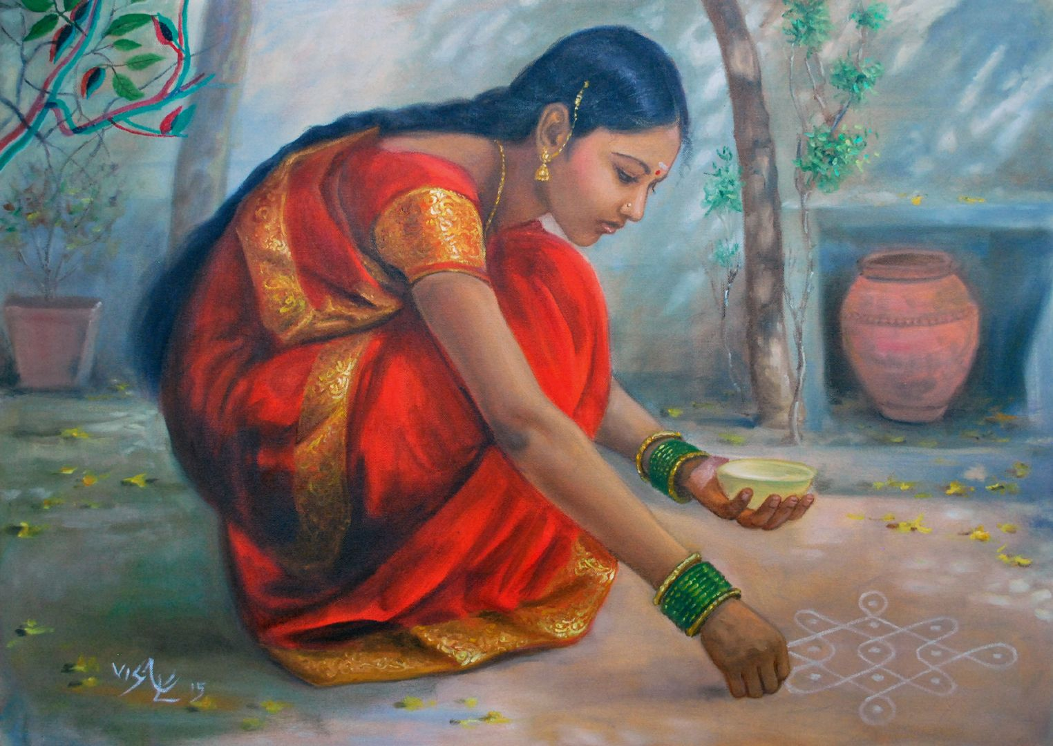 Nice paintings of girls