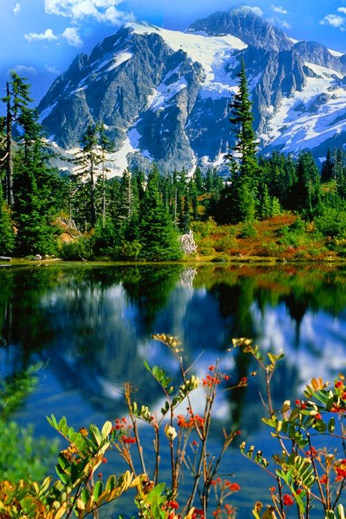 Montana Por El Lago Mountain By The Lake Paisajes Landscapes Naturaleza Nature Hermosos Paisajes Paisaje Relajantes Paisaje De Fantasia