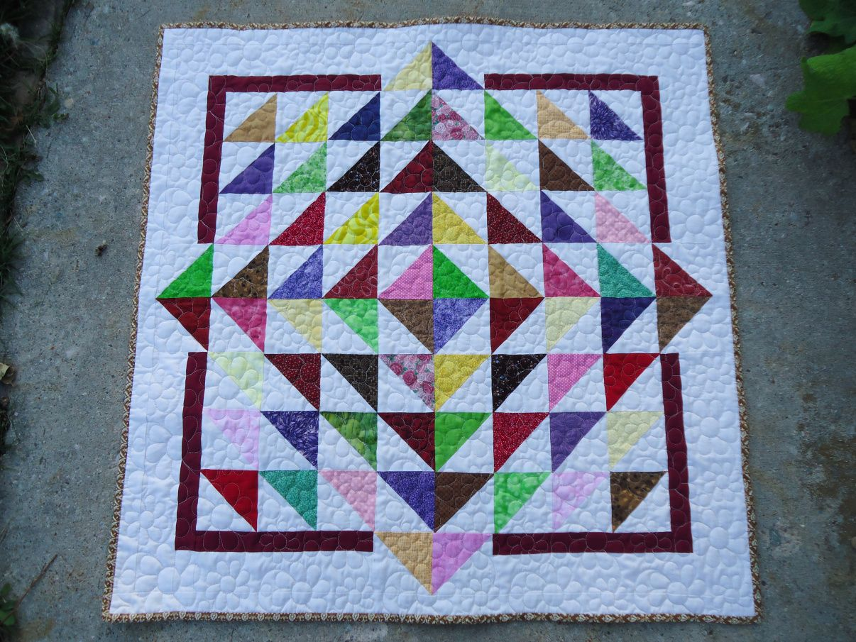 Lily Pad Finished | Half square triangles and Patchwork
