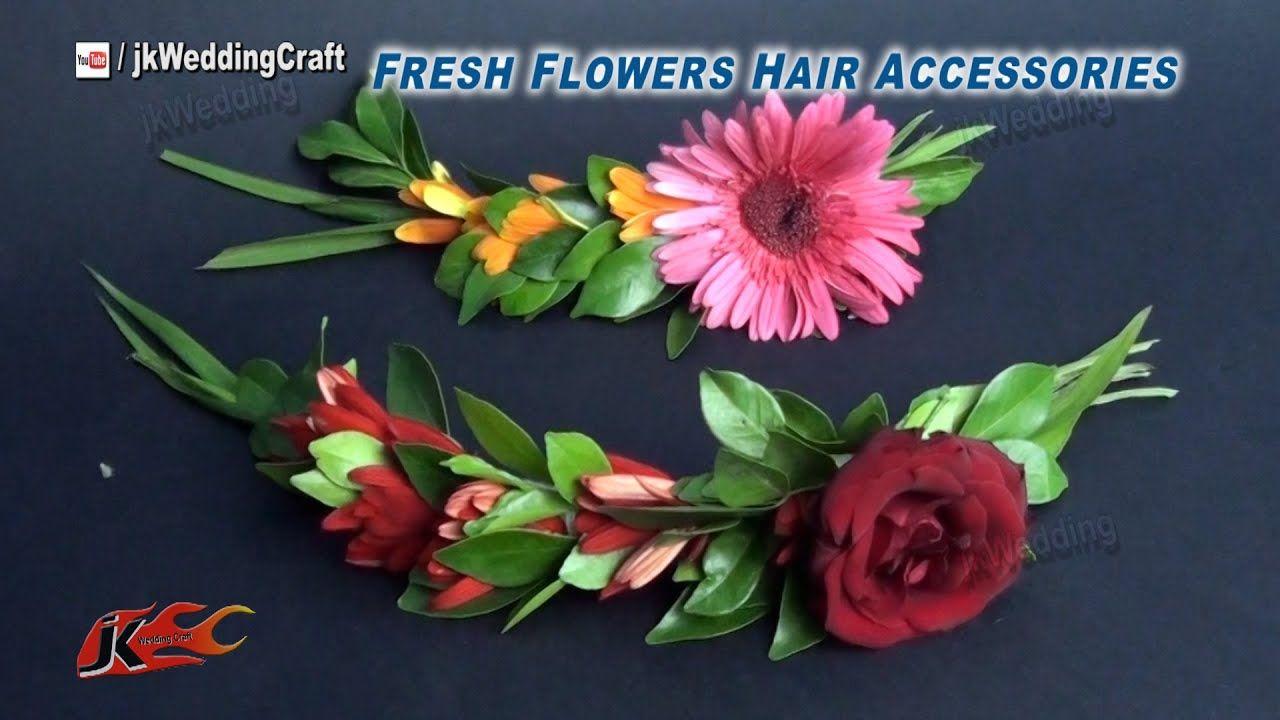 diy how to make a fresh flower hair accessories | jk wedding