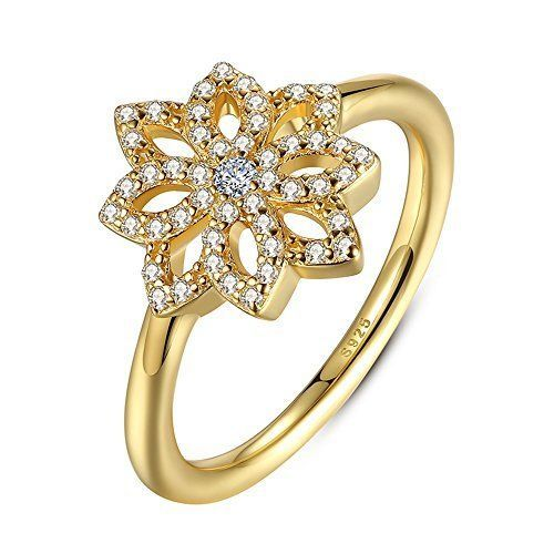 Yellow tone clear gem lotus flower band ring vintage style promise yellow tone clear gem lotus flower band ring vintage style promise wedding mightylinksfo