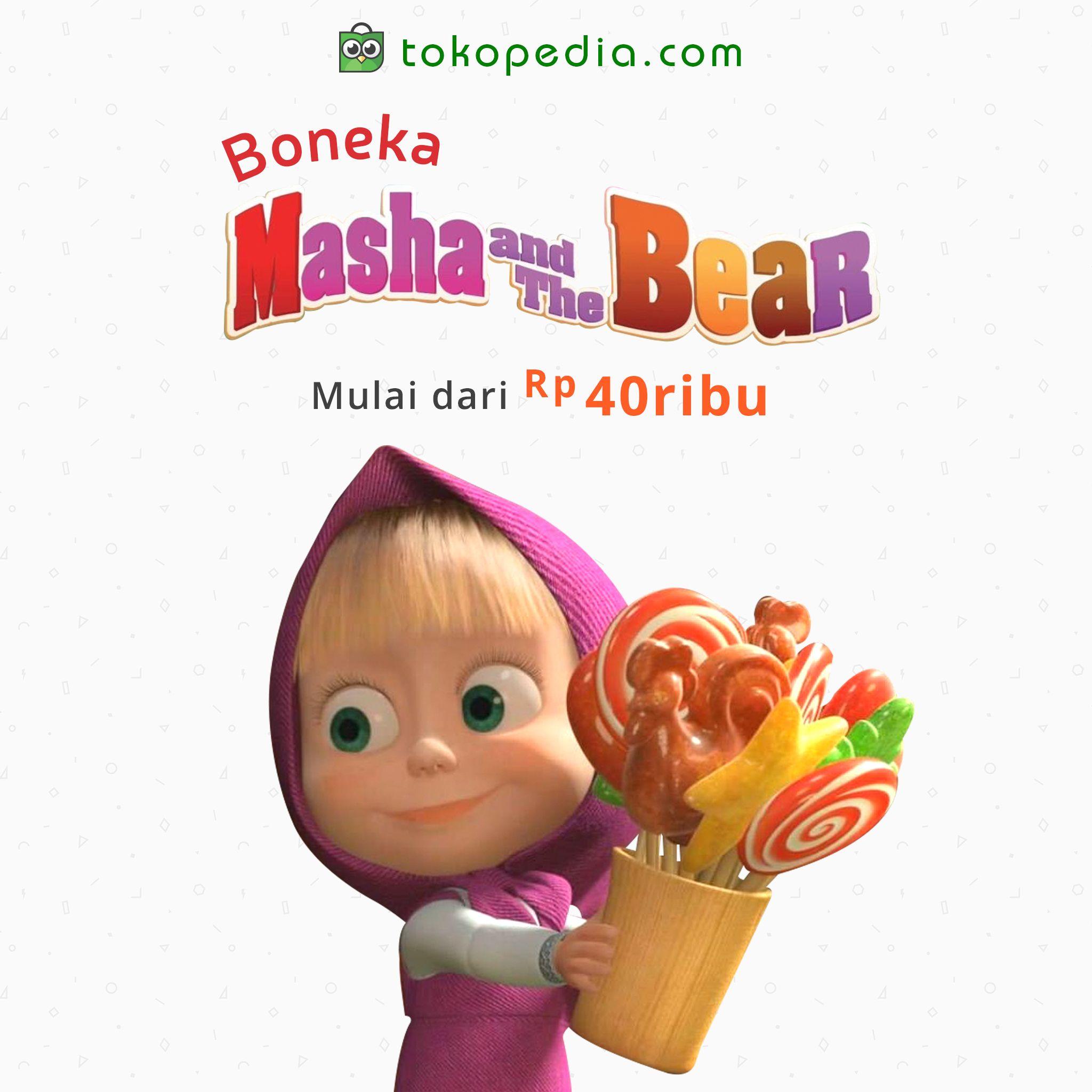 Beli Yuk Boneka Masha And The Bear Mulai Dari Rp 40000 Di