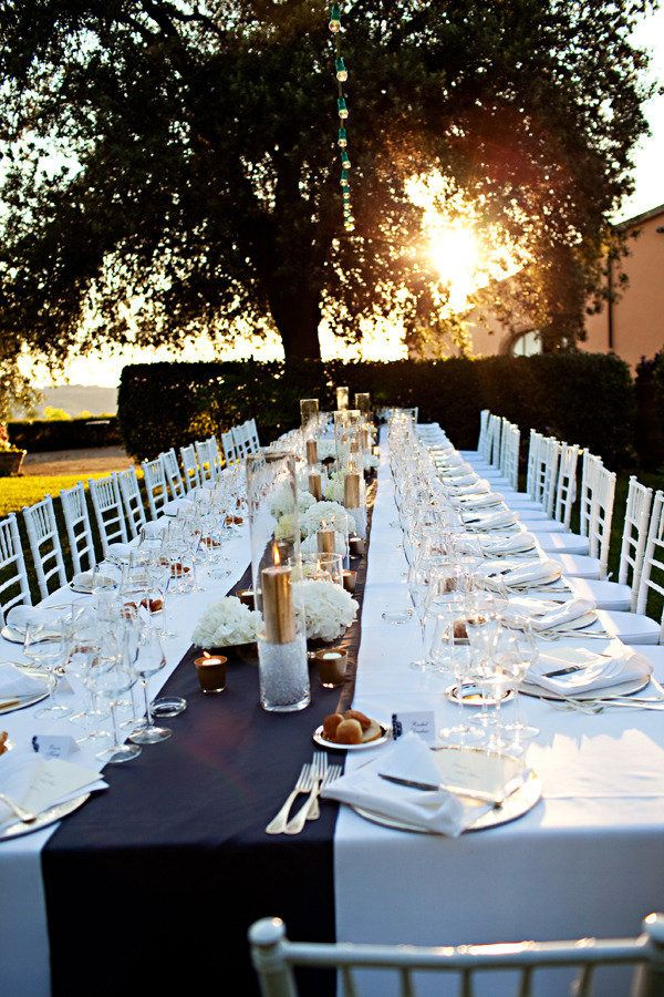 #gold, #tablescapes, #table-runners, #candle  Photography: Jacqueline Photography - jacquelinephotography.net Event Design: Glam Events in Tuscany - glameventsintuscany.com Floral Design: Il Giardino Delle Fate - ilgiardinodellefate.it  Read More: http://www.stylemepretty.com/destination-weddings/italy-weddings/2012/09/21/tuscan-villa-wedding-from-jacqueline-photography/