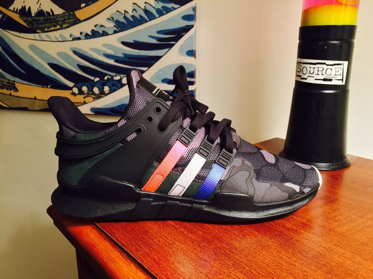 timeless design bfe0e f98e0 Custom Adidas EQT Support ADV Tri-Colored