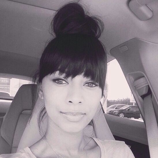 Keri Hilson With A Faux Fringe Bangs Sew In Ideas
