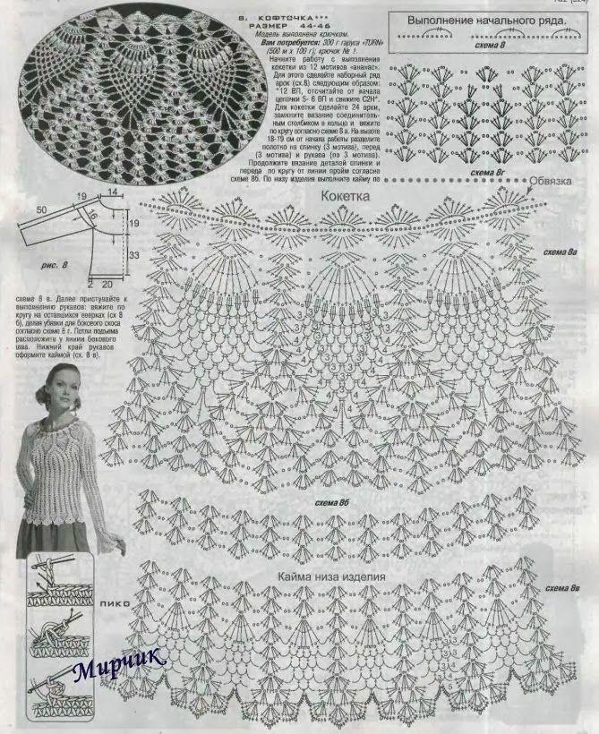 Esquema Polera   Áo kiểu   Pinterest   Esquemas, Chaleco crochet y ...