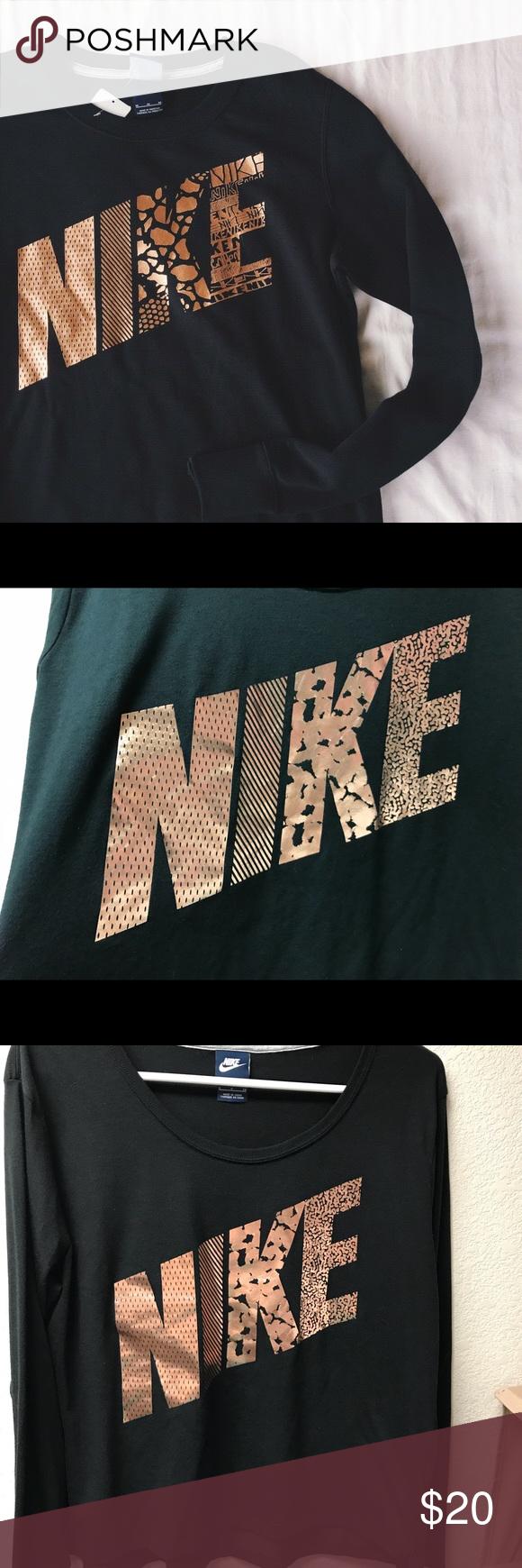 2fdd369625bc Nike Rose Gold Print Long Sleeve Top. Small Nike Rose Gold Print Long Sleeve  Top. Small. EUC. Nike Tops Tees - Long Sleeve