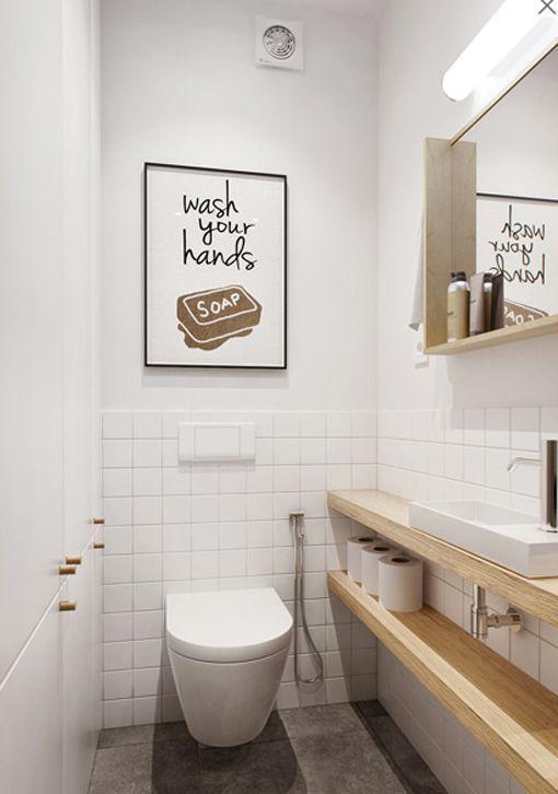 Cómo decorar habitaciones estrechas y alargadas: baño pequeño ...