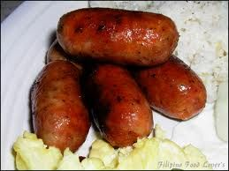 Longanisa: Filipino pork sausage. A breakfast favourite with rice and fried egg! I LOVE IT!