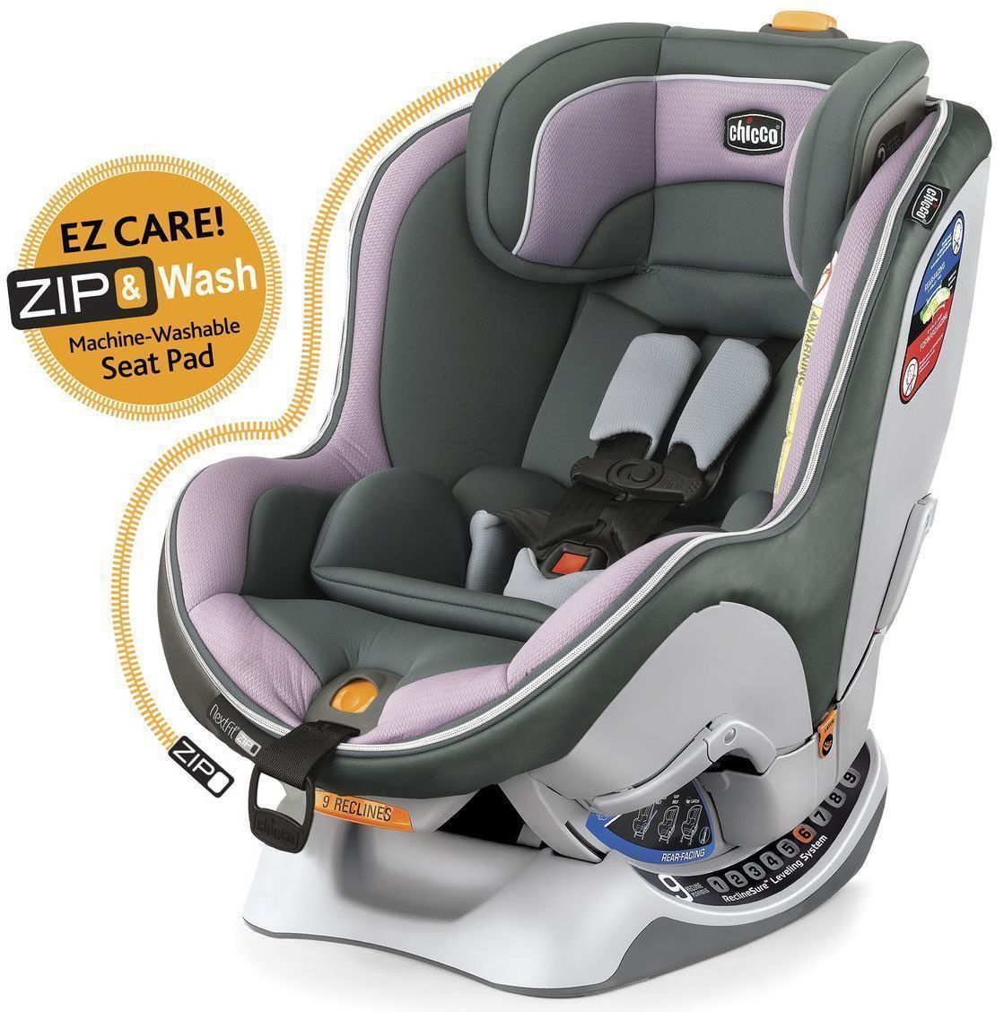 Chicco Nextfit Zip Convertible Easy Install Car Seat Lavender