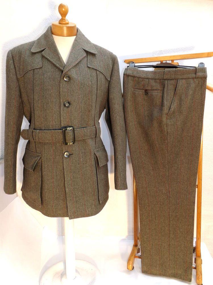 Vintage Derby Tweed Gamekeepers-Hunting-Shooting Norfolk ...