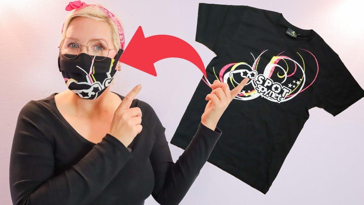 Photo of Mundschutz aus T-Shirt selber machen (nähen ohne Nähmaschine)