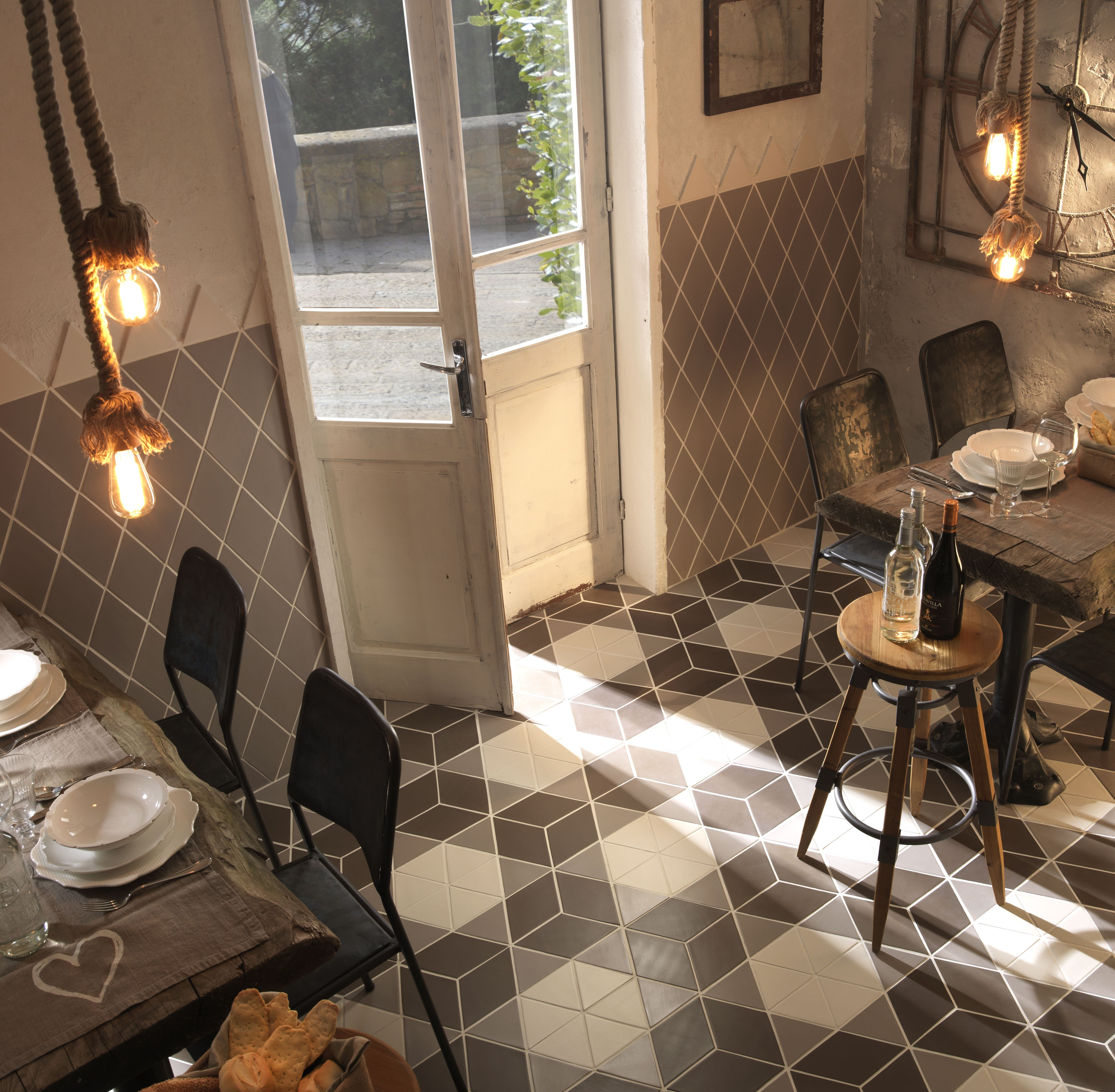 tonalite collezione geomat forma rhombus tiles piastrelle shape ...