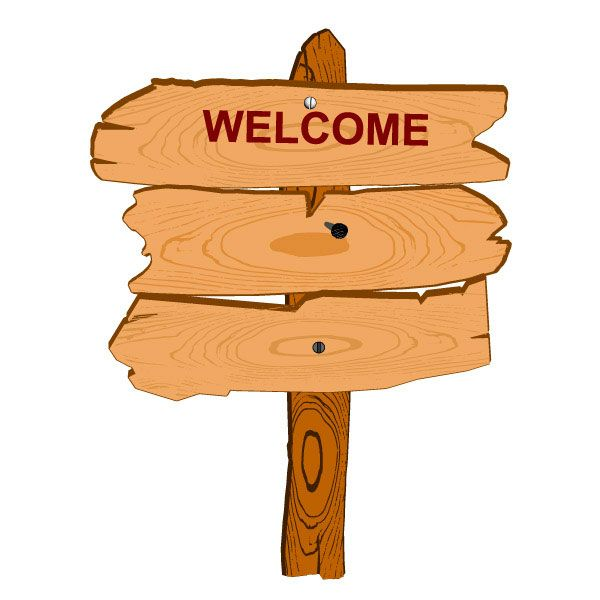 Cartoon Wooden Signpost Wooden Signs Graphic Design Art Vector Free