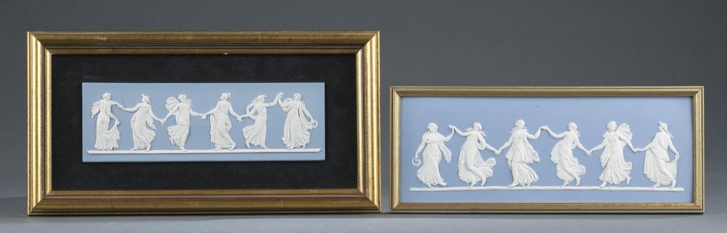302-A group of two Wedgwood jasperware plaques. Dancing Hours ...