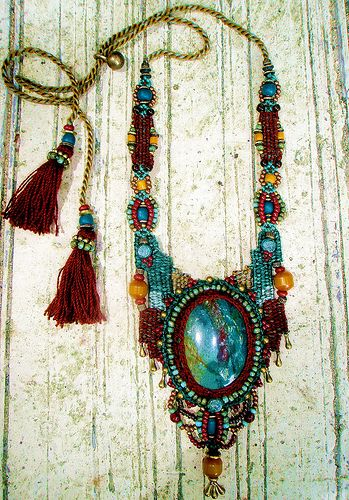 ~ crochet, macrame, weaving, beads, stone & a touch of love ~