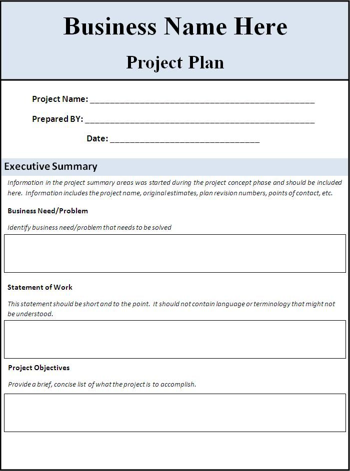Project Planning Templates 10+ Printable Word, Excel  PDF Formats