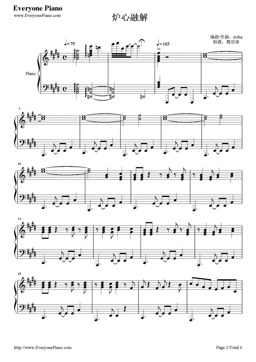Meltdown 1 Vocaloid Sheet Music Pinterest Music Sheet Music