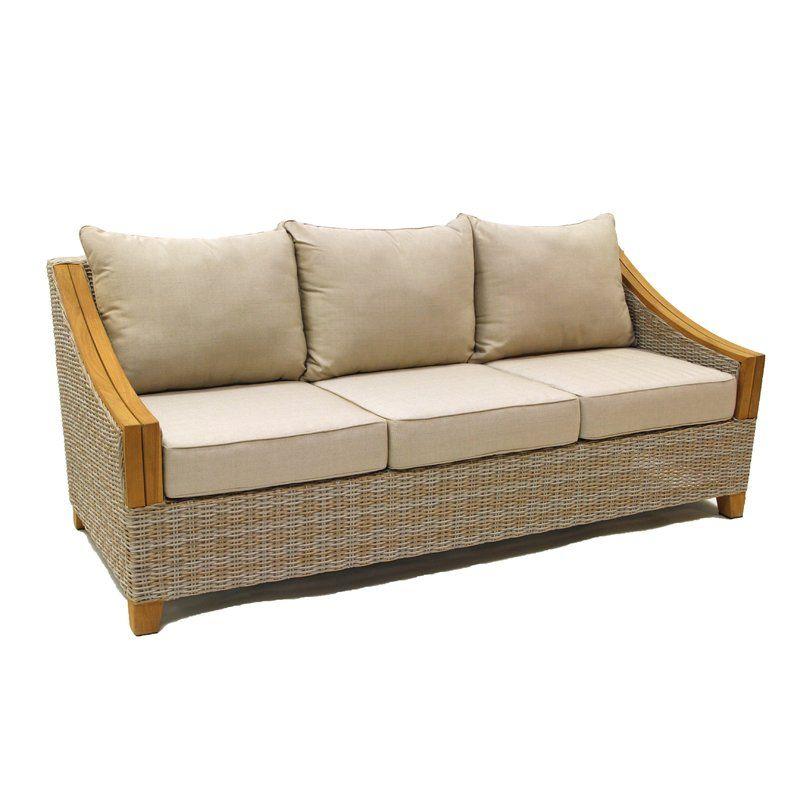 Kincaid Teak Patio Sofa With Sunbrella