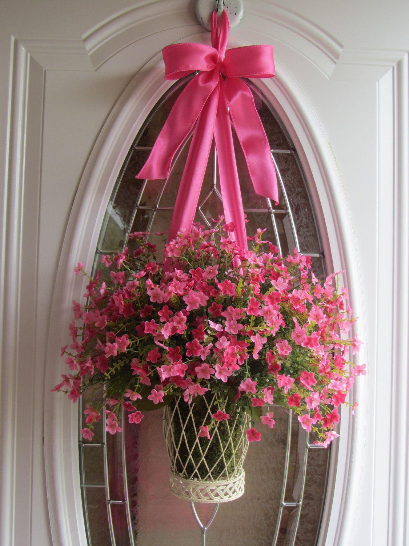 Spring Wreath, Front Door Wreaths, Summer  Wreath, Boxwood Wreath, Valentines Wreath