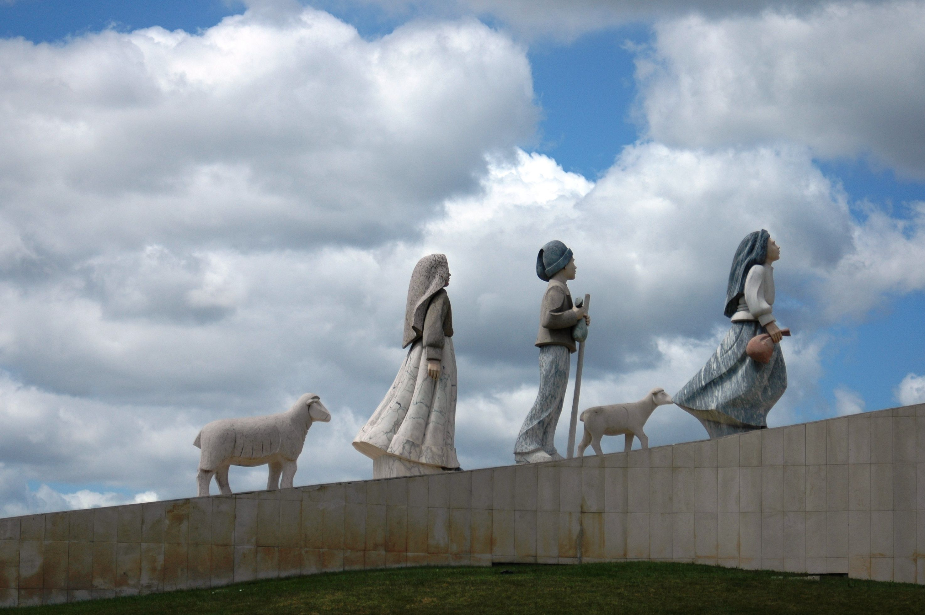Fatima Portugal Monument To The Three Little Shepherds At The
