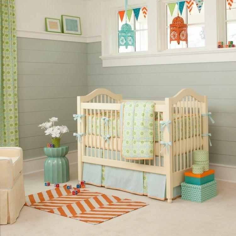 Babyzimmer Junge Ideen | Babyzimmer Einrichten Ideen Junge Pastellfarben  Wanddeko Laterne .