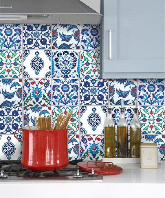 Tile Stickers Vinyl Decals for backsplash kitchen or bath or floor