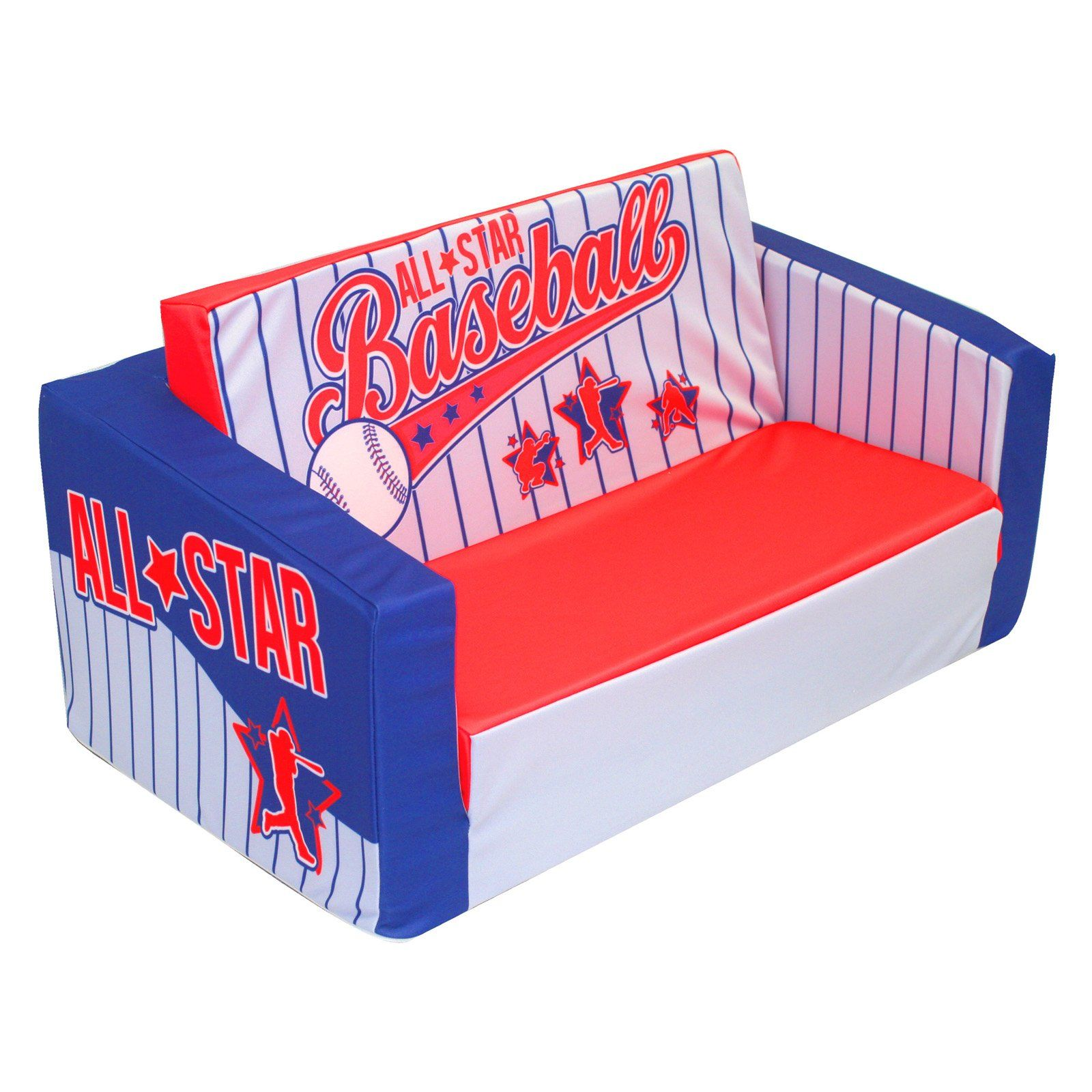 Have To Have It Newco Kids Baseball All Star Kids Flip Sofa