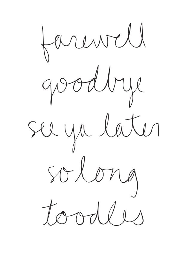 sometimes it's best to say goodbye. there is new freedom in